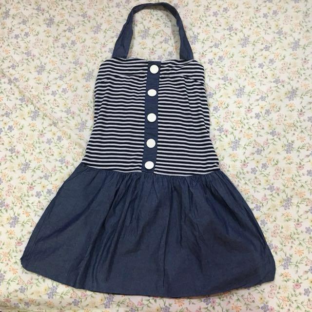Mini Dress Blue Stripes
