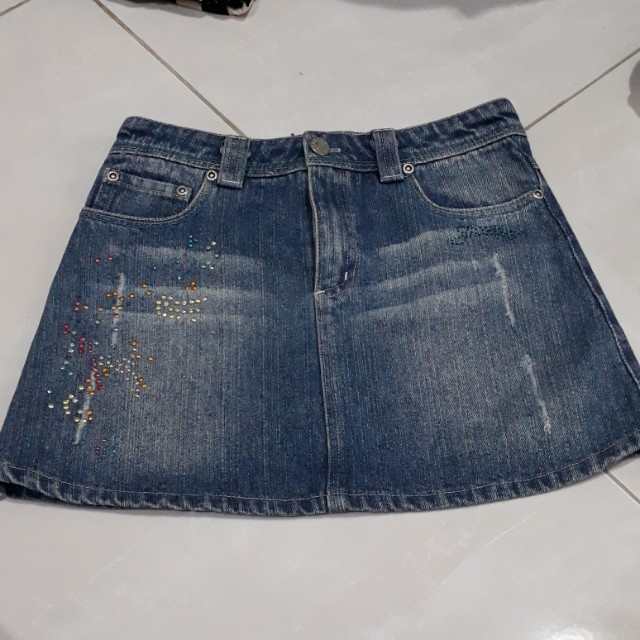 Mini skirt jeans anak
