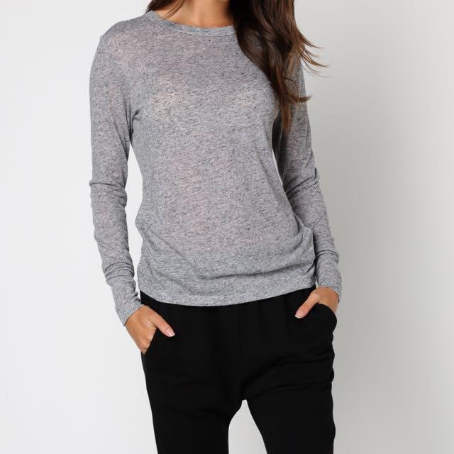 MNG Grey Long Sleeve Top