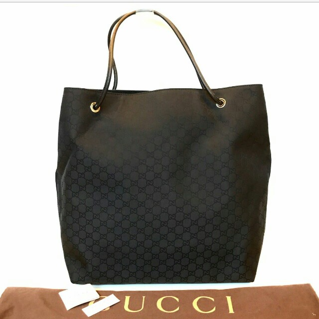 NEW GUCCI Gifford Extra Large Shopping Tote in Black
