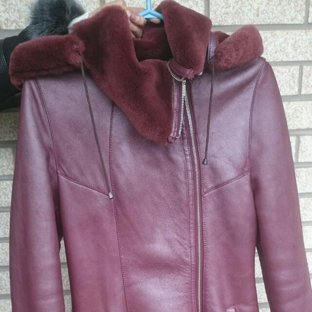 New Sheepskin Winter Coat Sz S