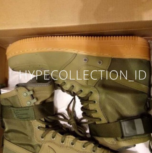 sale retailer 0cc56 571d7 Nike Air Force 1 High Special Field Fade Olive Gum BNIB, Men s Fashion,  Men s Footwear, Sneakers on Carousell