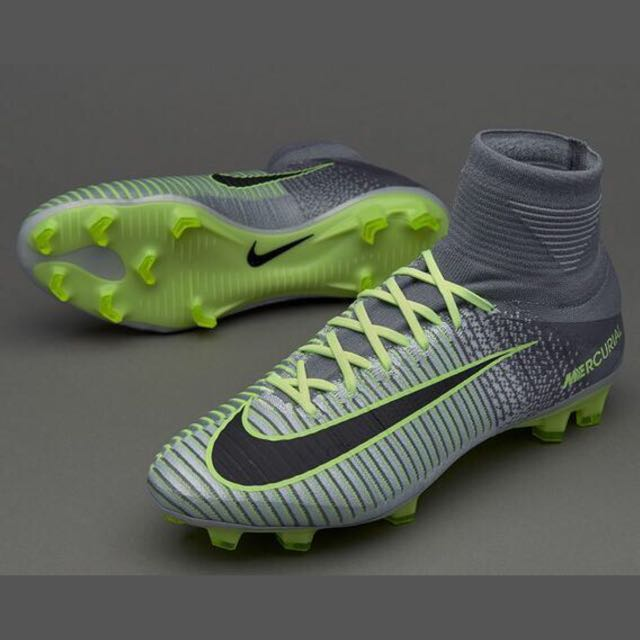 new style 420f3 80031 Nike Mercurial Superfly V FG Grey Green, Sports, Sports   Games Equipment  on Carousell