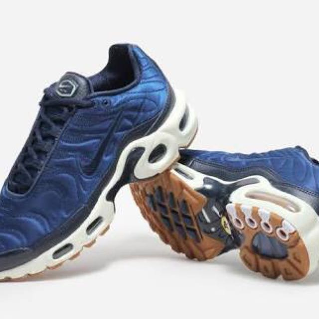 35f5916476 ... cheap nike satin blue tns womens fashion shoes on carousell 6538a 6efe2