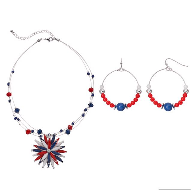 NWT Women's Color necklace earring set