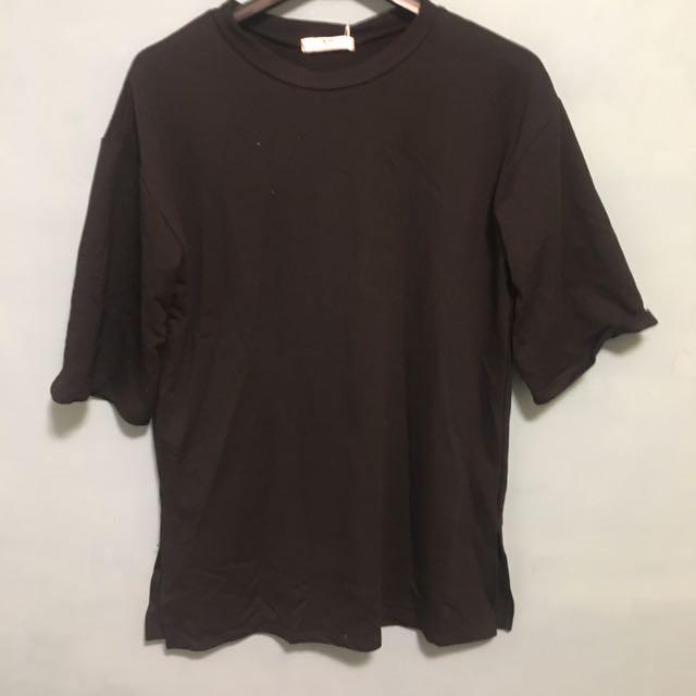 Oversize 黑 上衣短袖
