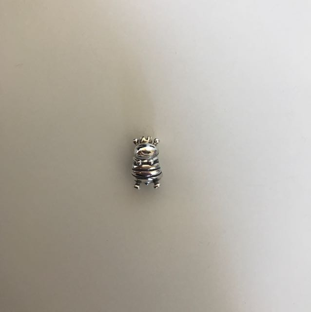 Pandora Sterling Silver Bumblebee Charm with 9ct Gold Crown