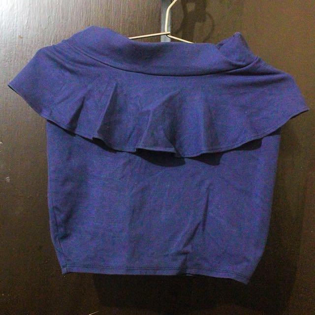 Peplum Pencil Miniskirt