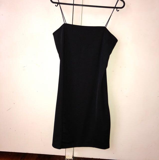 Petite Boohoo Black Mini-Dress