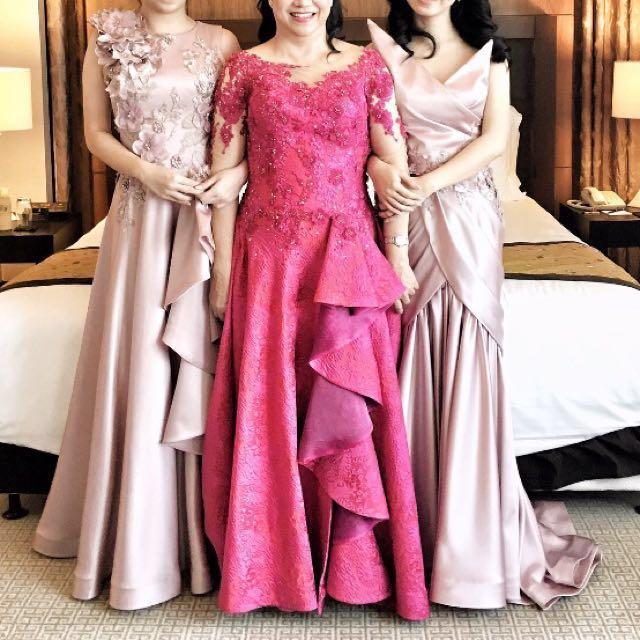 Pink Dress Prom Rental Gaun Pesta