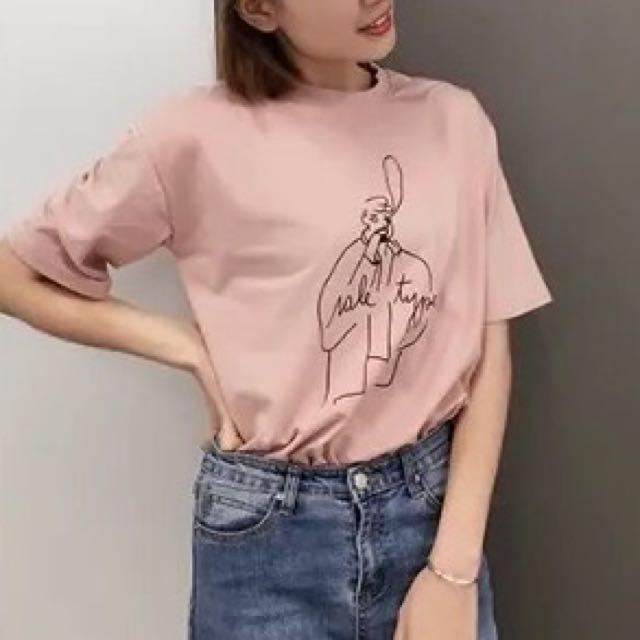 Pink graphic Tshirt
