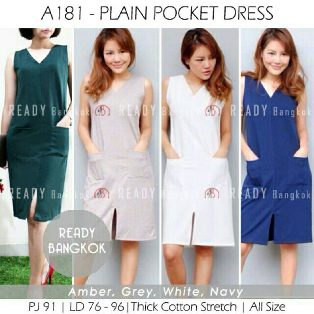 plain pocket dress