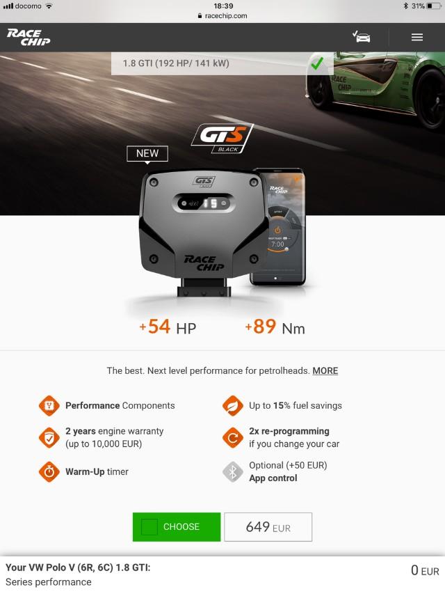 RaceChip GTS Tuning Chip Audi BMW Mercedes Volkswagen Honda