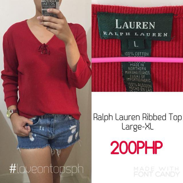 Ralph Lauren Ribbed Top