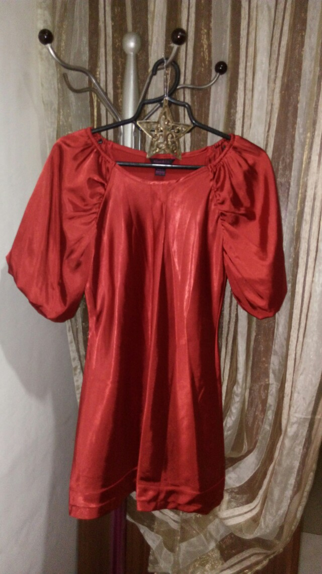 Red blouse