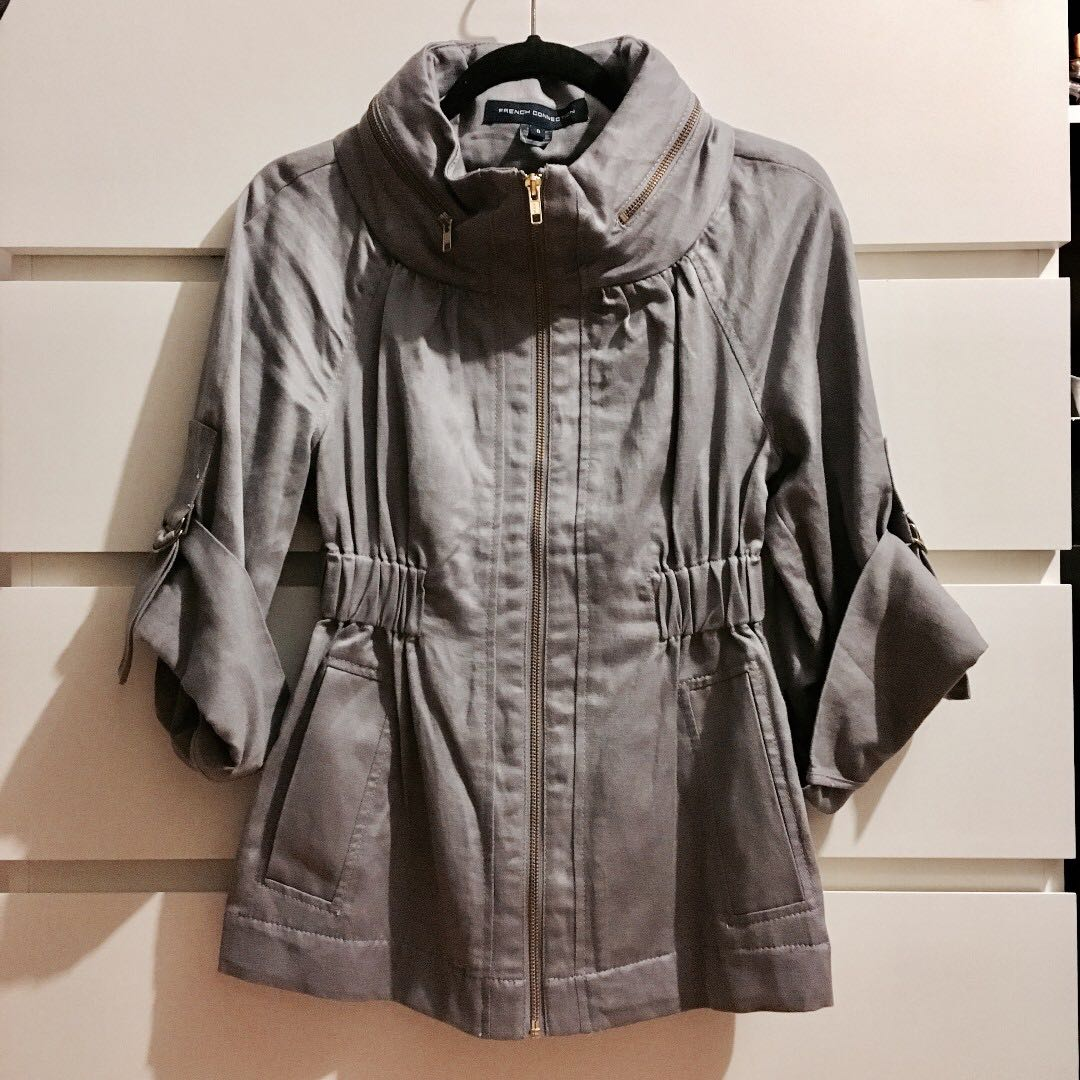 *Reduced* FCUK French Connection Quarter Length Sleeve Jacket