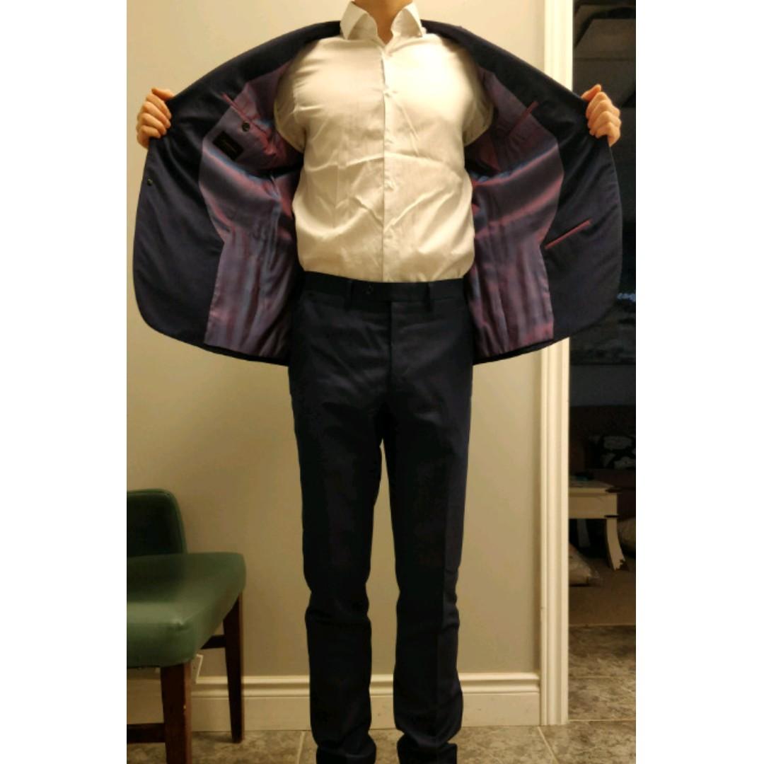 Royal Blue Sumisura Merino Wool Suit - Size 38