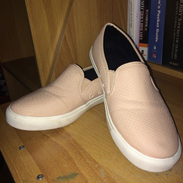 RUBI SHOES nude pink slip on