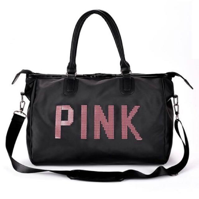 [SALE]Victoria's Secret Inspired Pink Large Duffel Travel Bag