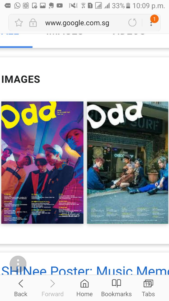 SHINee Odd posters, Entertainment, K-Wave on Carousell