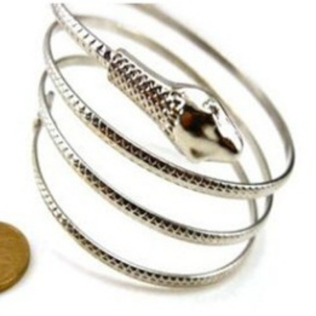 Silver snake armlet women's fashion accessories