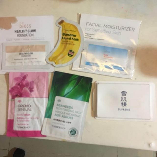 Skin care sample