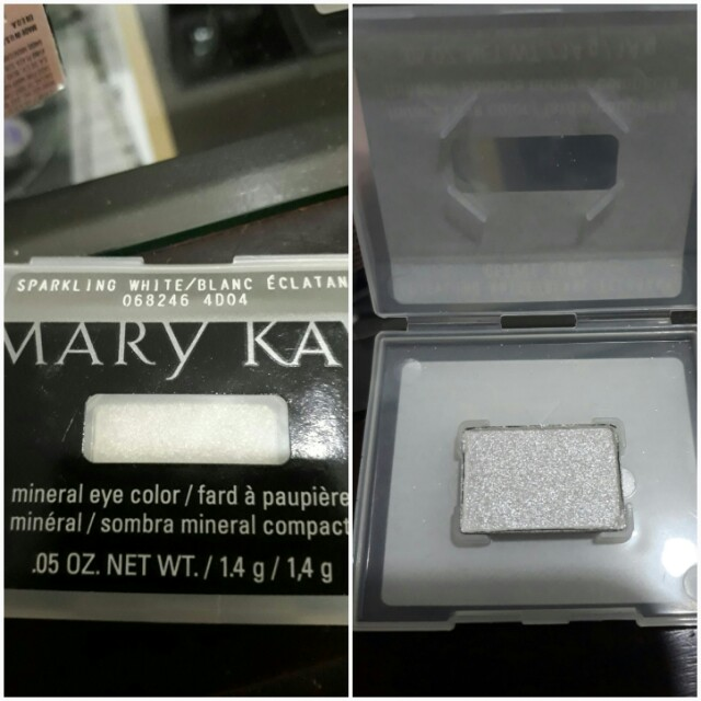 Sparkling white eyeshadow