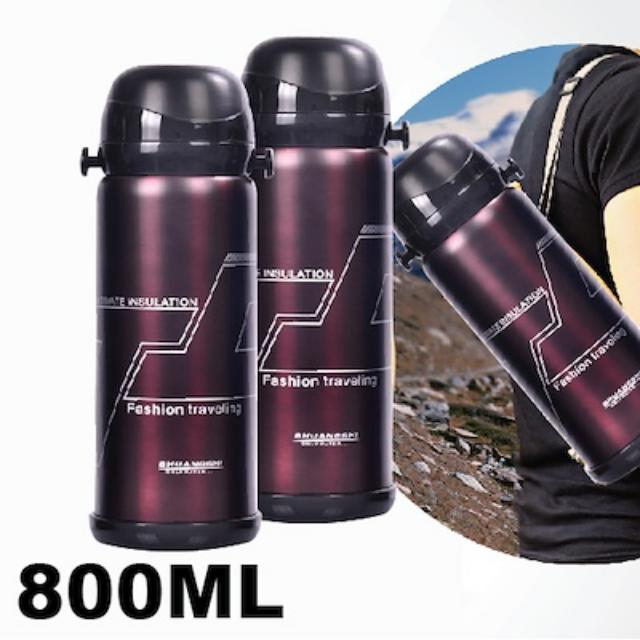 Stainless Steel Flask Thermos 800ML Vacuum Pot HotCold Outdoor Bottle