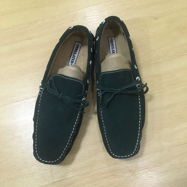 STAMPEDE Army Green Loafers