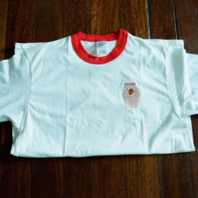 Strawberry Red Ringer Shirt