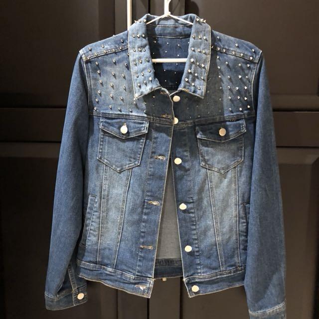 Studed denim jacket size S-L