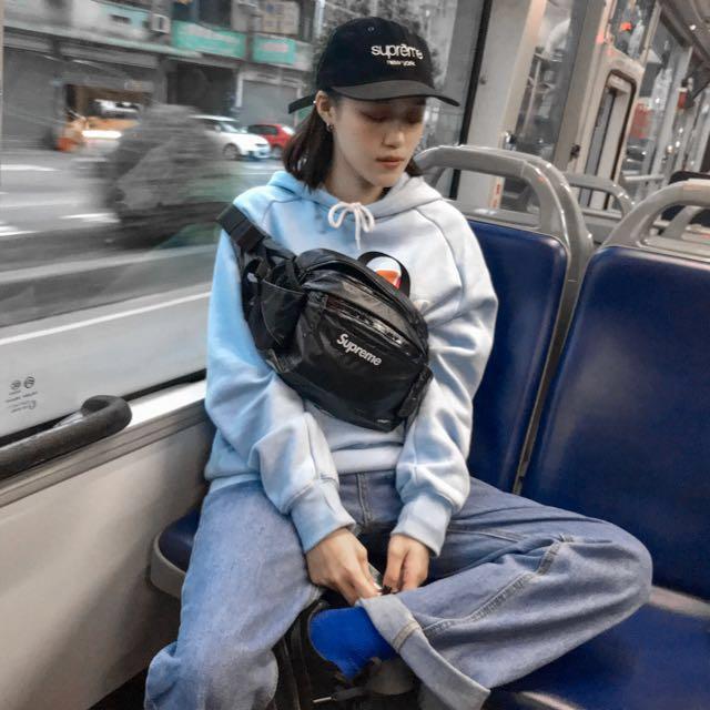 Supreme 43th 黑色 腰包 waist/shoulder bag