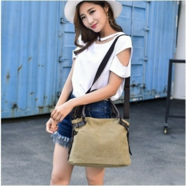 Tas kanvas selempang import / import canvas shouldef bag ( AN)
