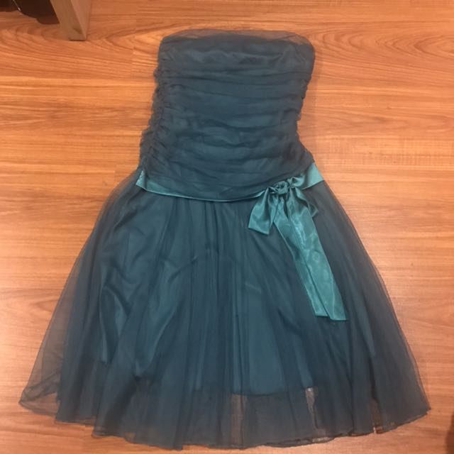 Teal Tulle Cocktail Dress