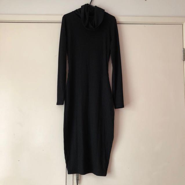 Temt Knitted Black Dress