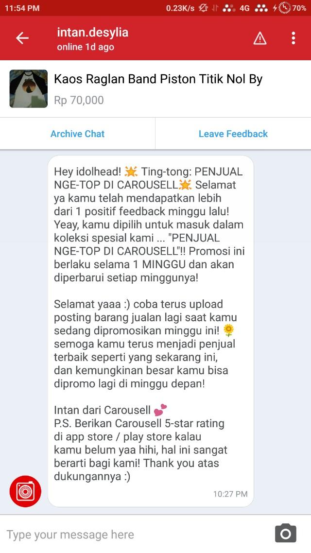 Terima Kasih Carousell 😎