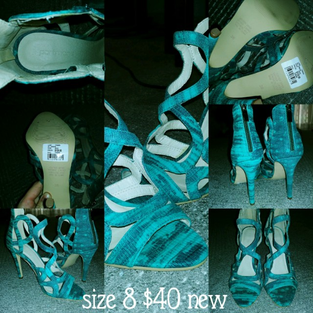 Turquoise Heels Brand new never worn