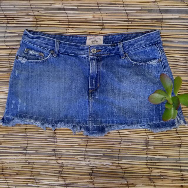 Vintage Vanessa Tong Denim Skirt Size 14