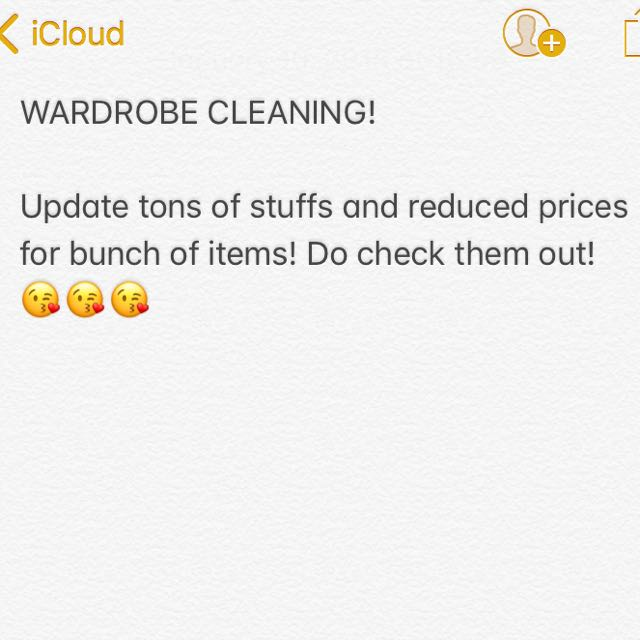 Wardrobe Cleaning!