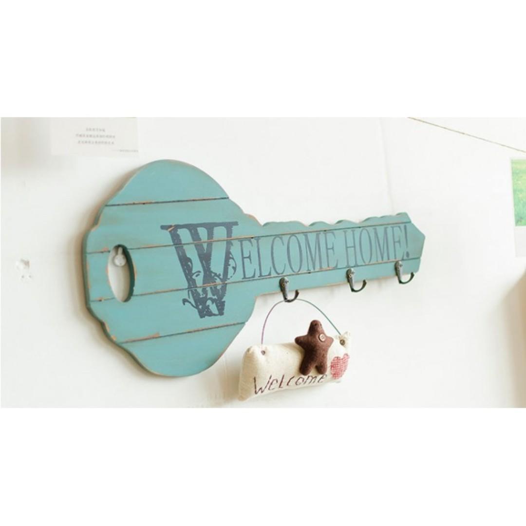 WELCOME DECORATION HANGER (BLUE)