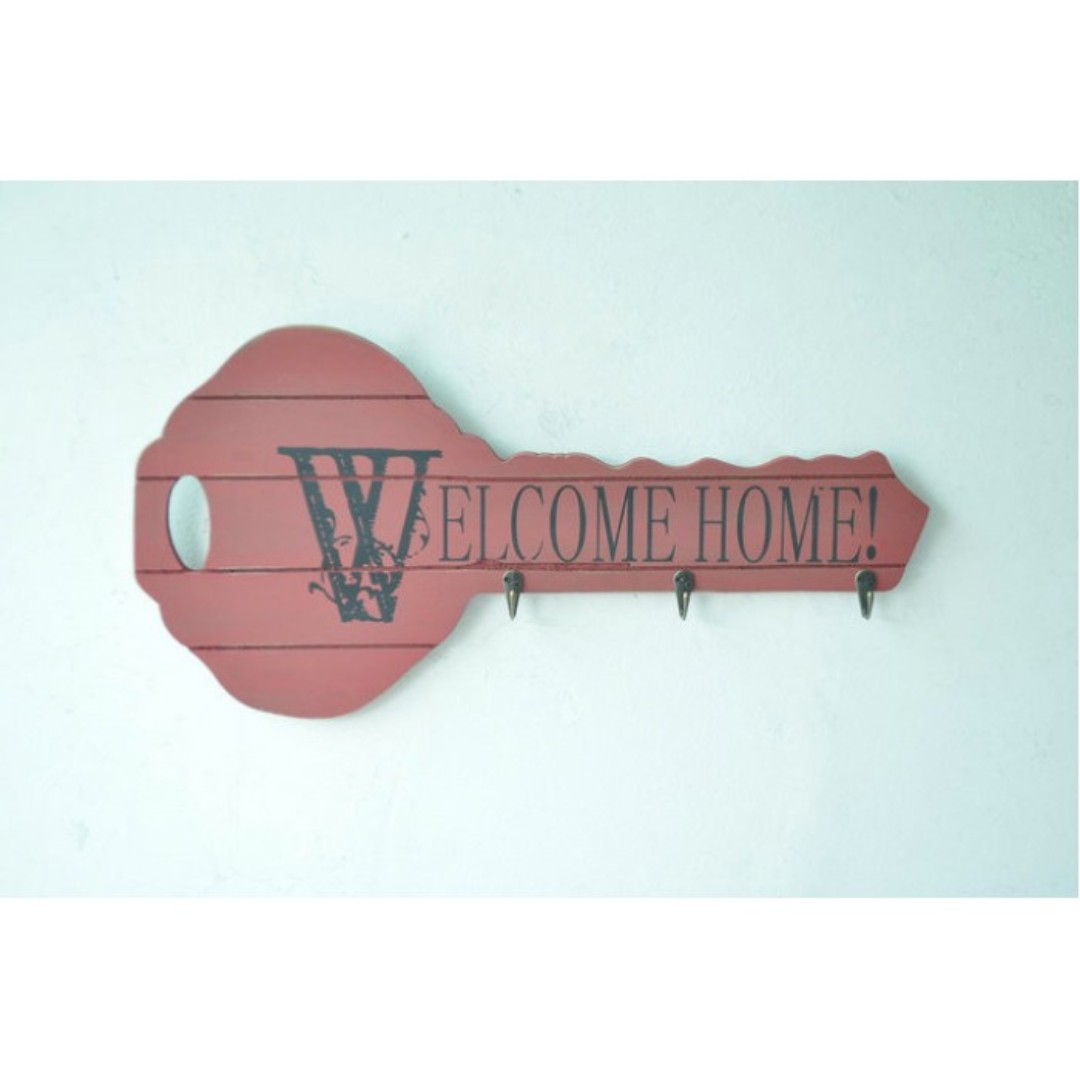 WELCOME DECORATION HANGER (RED)