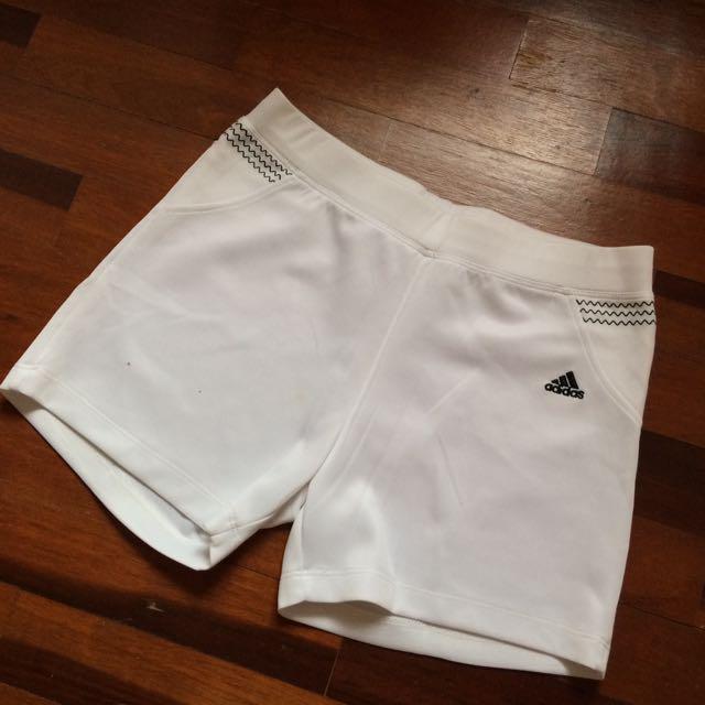 White Adidas Sports Shorts