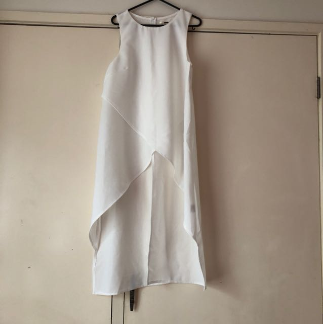 White Opened Front/Back Top