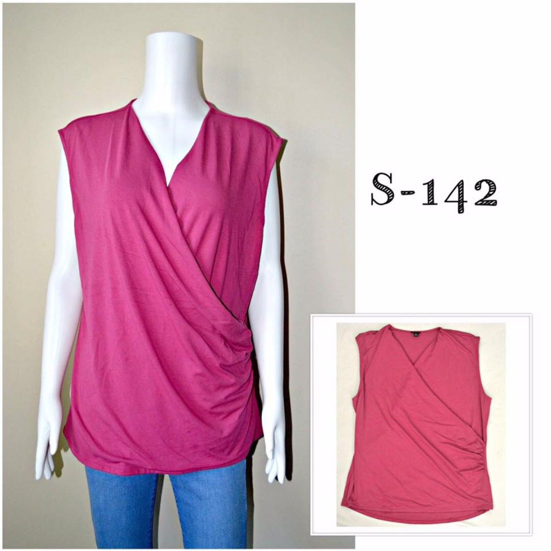Wrap Around Pink Blouse