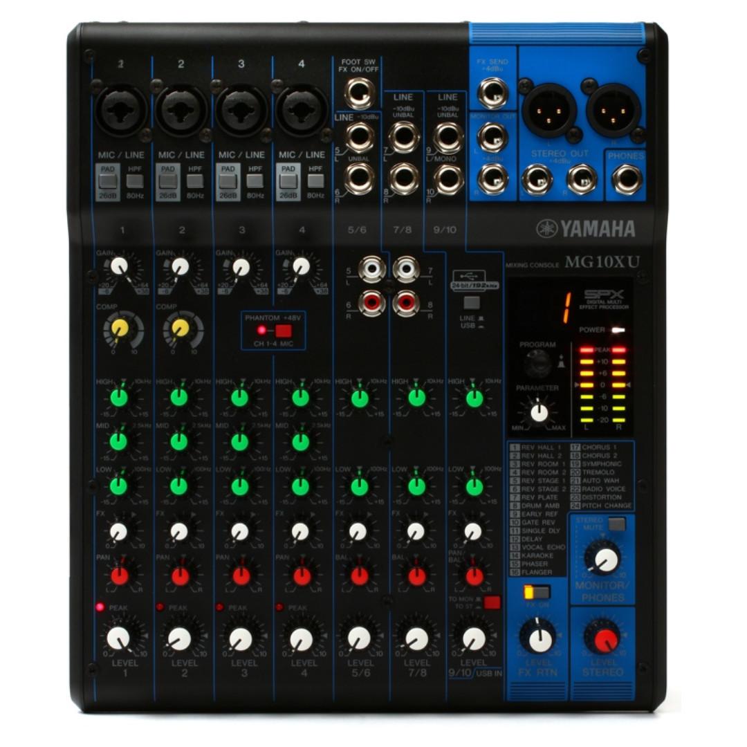 Yamaha MG10XU 10-channel mixer (preorder)