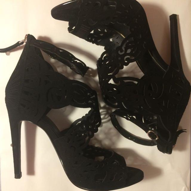 Zara Leather Heels (38)