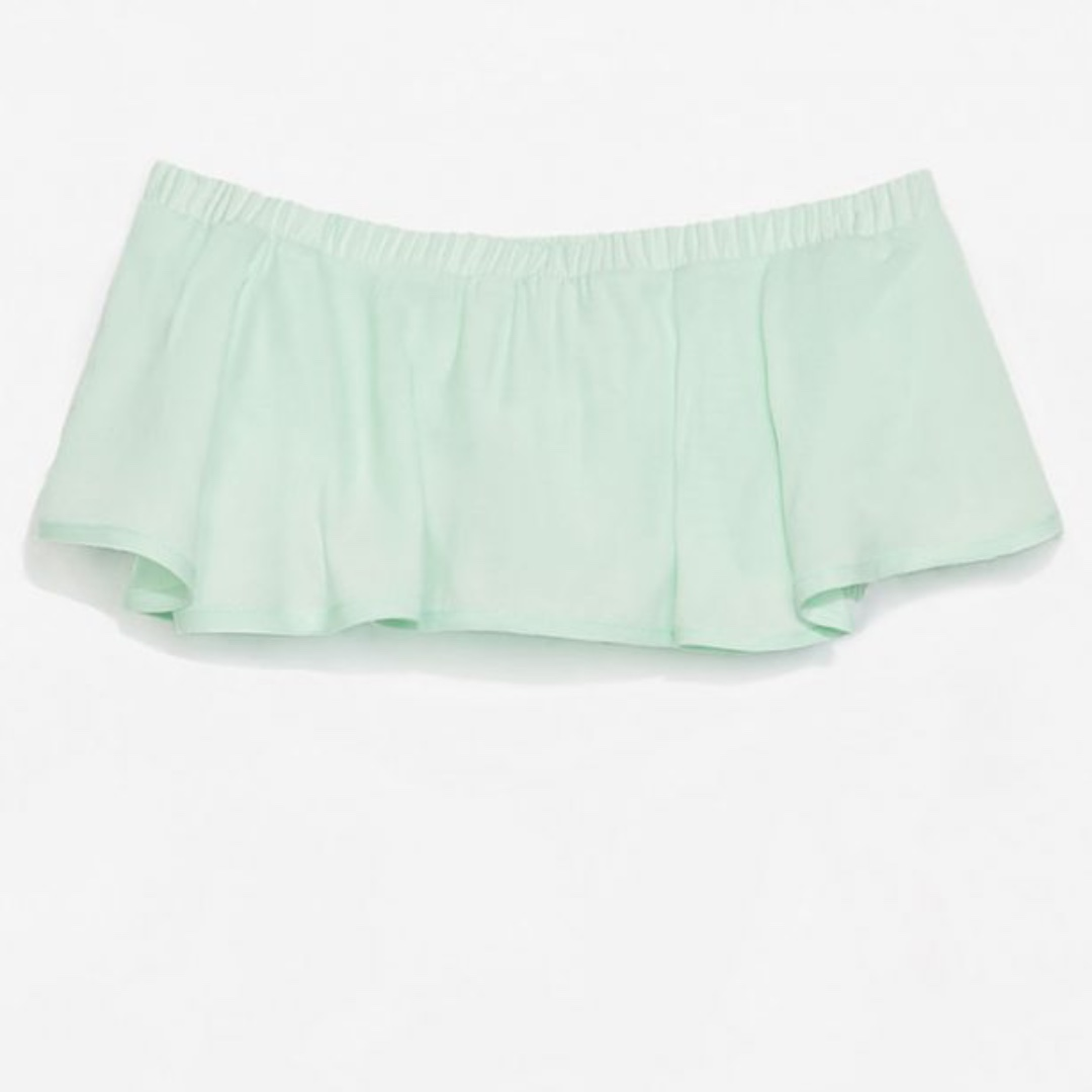 a8234b08ea Zara mint frilly tube top