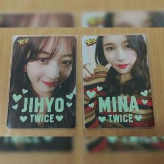 #kpop TWICE 志效 Mina YES card