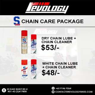 S100 Chain Lube and cleaning package *promotion*