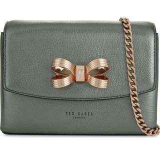 TED BAKER Lupiin metallic leather cross-body bag